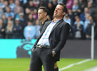 Football - 2017 / 2018 Premier League - Watford vs. Manchester City<br /> <br /> Watford Manager Marco Silva shows his anguish from the touchline, at Vicarage Road.<br /> <br /> COLORSPORT/ANDREW COWIE