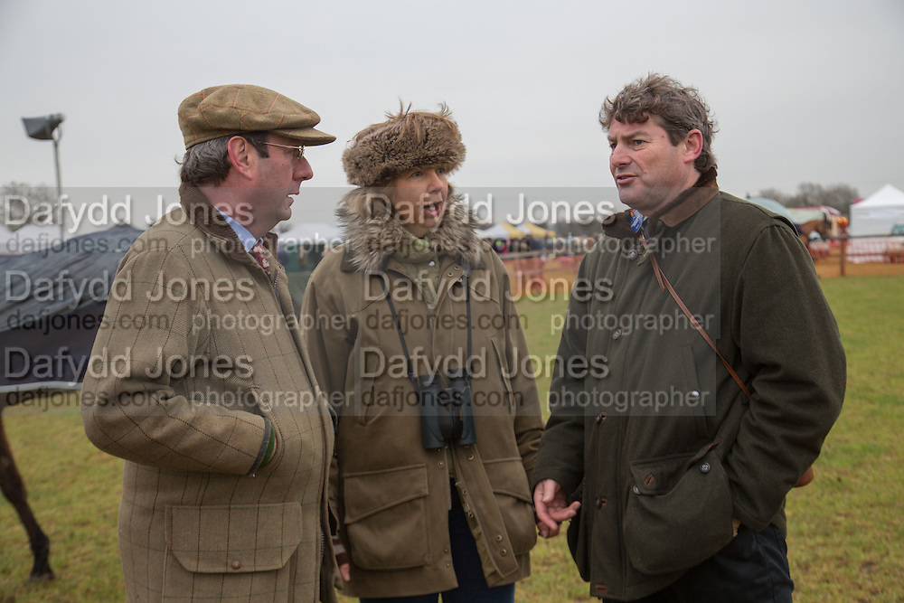 MICHAEL ELLIOT; LIZ WILLS; CHARLIE BROOKS, Heythrop Point to Point. At a  new course at Cocklebarrow near Aldsworth. 11 January 2014