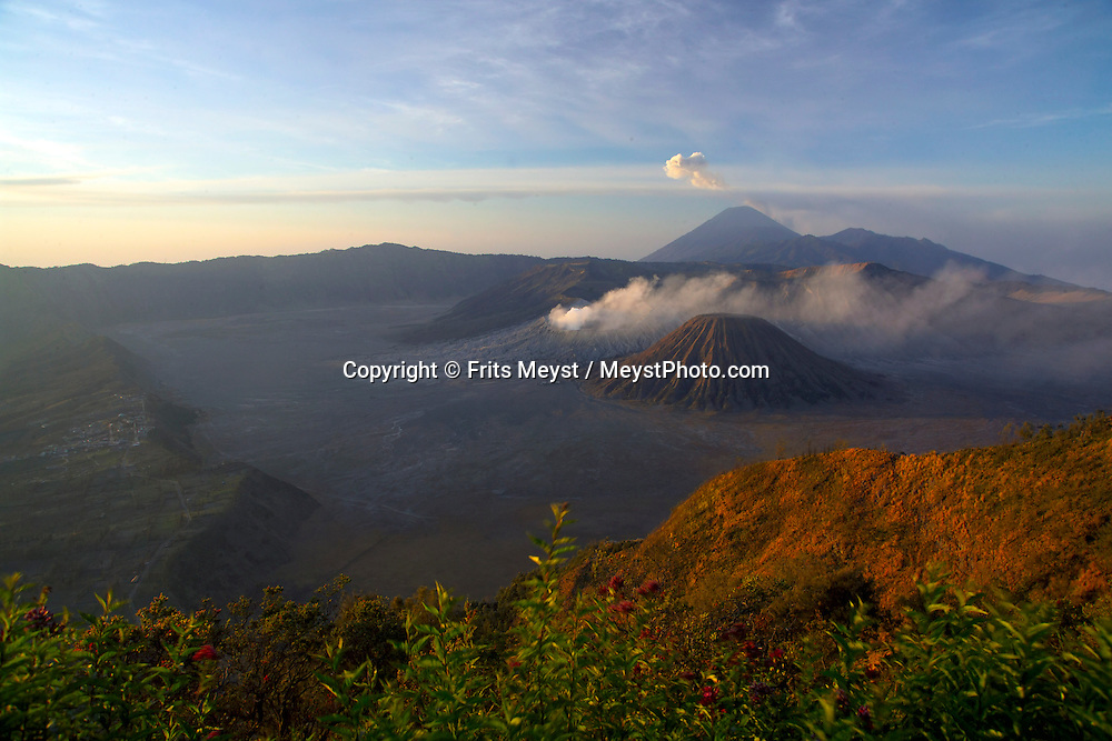 Bromo, Java, Indonesia, October 2006. Sunrise at the Bromo volcano is a spectacular natural attraction that must be seen. The island of Java is rich with culture, colorful friendly people, dutch colonial history and beautiful landscapes. Photo by Frits Meyst/Adventure4ever.com