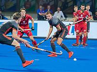 BHUBANESWAR, INDIA - Thijs van Dam (Ned)   tijdens de  finale tussen België en Nederland bij het WK Hockey heren in het Kalinga Stadion. COPYRIGHT KOEN SUYK