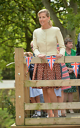 HRH the Countess of Wessex visits the Riverhill Regeneration project in Cobham Surrey on 9th July 2014.<br /> Picture shows:-The COUNTESS OF WESSEX.