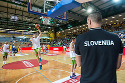 Uros Slokar of Slovenia during friendly basketball match between National teams of Slovenia and Ukraine at day 1 of Adecco Cup 2015, on August 21 in Koper, Slovenia. Photo by Grega Valancic / Sportida