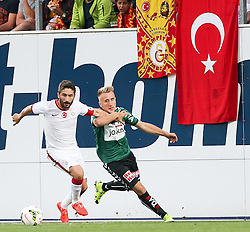 14.07.2015, Keine Sorgen Arena, Ried im Innkreis, AUT,Testspiel, SV Josko Ried vs Galatasaray Istanbul, im Bild Sabri Sarioglu, (Galatasaray Istanbul) und Albin Ramadani, (SV Josko Ried) //during a International Friendly Match between SV Josko Ried and Galatasaray Istanbul at the Keine Sorgen Arena in Ried im Innkreis, Austria on 2015/07/14. EXPA Pictures © 2015, PhotoCredit: EXPA/ Roland Hackl