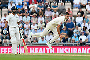 James Anderson of England bowling during day two of the fourth SpecSavers International Test Match 2018 match between England and India at the Ageas Bowl, Southampton, United Kingdom on 31 August 2018.