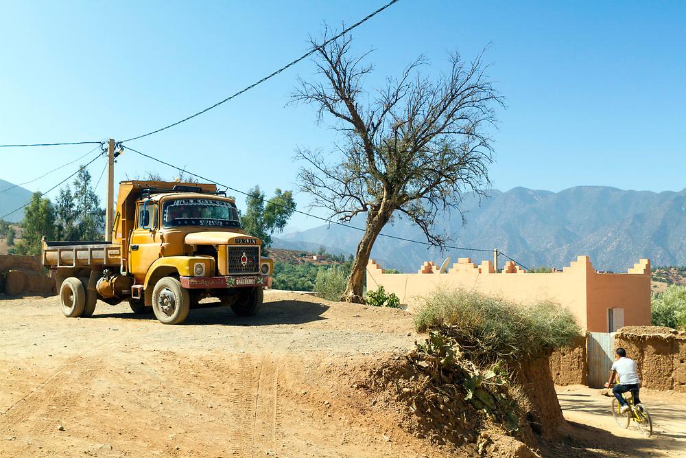 Berber village in the Ouirgane region, High Atlas Mountains, Morocco, 2013-10-17.