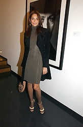 ASTRID MUNOZ at a private view of an exhibition of portrait photographs by Danish photographer Marc Hom held at the Hamiltons Gallery, 13 Carlos Place, London on 23rd October 2006.<br />