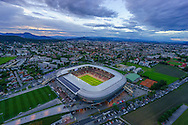 An arial view of Worthersee Stadion, Klagenfurt, Austria.<br /> Picture by EXPA Pictures/Focus Images Ltd 07814482222<br /> 31/05/2016<br /> ***UK &amp; IRELAND ONLY***<br /> EXPA-STE-160531-5342.jpg