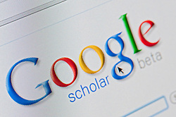Detail of screenshot from website of Google scholar academic website