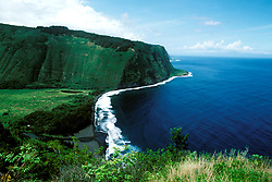 Hawaii: Hilo.  At the Waipio Valley Overlook.  Photo #: hihilo104..Photo copyright Lee Foster, 510/540-2202, lee@fostertravel.com, www.fostertravel.com
