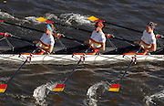 Chiswick. GREAT BRITAIN, 03/11/2007  Tideway Scullers VII, Bow Lorne NORRIS, Natasha HOWARD, Sophie BALMARY and Frida SVENSSON,  Fullers Fours Head of the River Race. [Mandatory Credit Peter Spurrier/Intersport Images] ,Rowing Course: River Thames, Championship course, Putney to Mortlake 4.25 Miles,