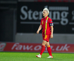 LLANELLI, WALES - Saturday, September 15, 2012: Wales' captain Jessica Fishlock looks dejected during the UEFA Women's Euro 2013 Qualifying Group 4 match against Scotland at Parc y Scarlets. (Pic by David Rawcliffe/Propaganda)
