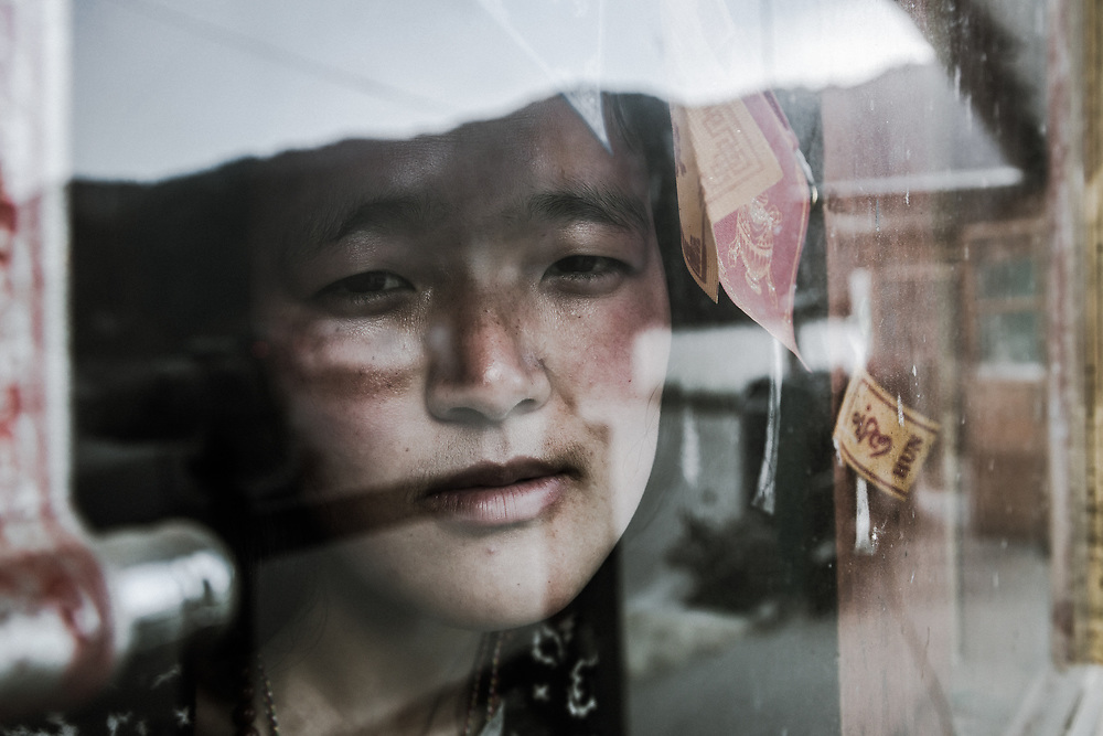 A portrait at the roadside diner in Bhutan