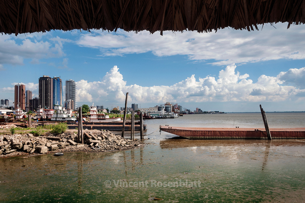 Belem, capital of the state of Para, Amazonia, Brazil. District of Telegrafo. Baia do Guajara...