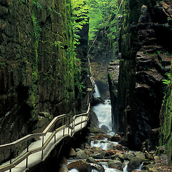 Lincoln, NH..The Flume in Franconia Notch State Park.  White Mountains, New Hampshire.