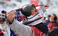 USA's Kyle Mack celebrates a silver medal in the Men's Snowboarding Big Air Final at the Alpensia Ski Jumping Centre during day fifteen of the PyeongChang 2018 Winter Olympic Games in South Korea.