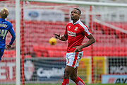 Swindon Town's Jonathan Obika celebrates his goal during the Sky Bet League 1 match between Swindon Town and Gillingham at the County Ground, Swindon, England on 26 December 2015. Photo by Shane Healey.