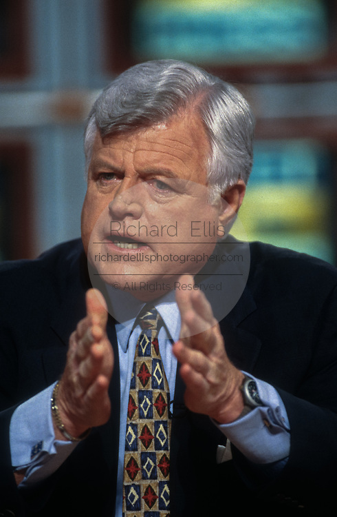 WASHINGTON, DC, USA - 1997/03/02: U.S. Senator Ted Kennedy appears on NBC's Meet the Press March 2, 1997 in Washington, DC.     (Photo by Richard Ellis)