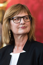 "03.06.2019, Präsidentschaftskanzlei, Wien, AUT, Angelobung der Übergangsregierung, im Bild Nachhaltigkeits- und Tourismusministerin Maria Patek // Austrian Minister for Sustainability and Tourism Maria Patek during inauguration of the provisional government after ""Ibiza Affair"" at Federal Presidents Office in Vienna, Austria on 2019/06/19, EXPA Pictures © 2019, PhotoCredit: EXPA/ Michael Gruber"