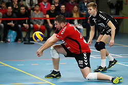 20181124 NED: Volleyball Top League ZVH - VCV: Zevenhuizen<br />Bobby Kooy (15) of MKB Accountants VCV, Robbert de Wilde (2) of MKB Accountants VCV <br />©2018-FotoHoogendoorn.nl / Pim Waslander