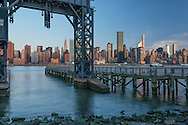 USA, New York, Manhattan,  midtown skyline seen from Long Island City