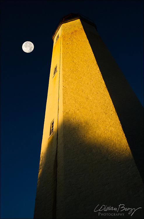 Sunrise/Moonset Sandy Hook Lighthouse