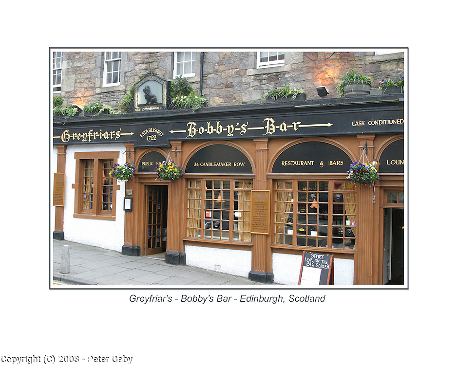 Greyfriars - Bobby's Bar in Edinburgh, Scotland.<br />