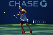 FLUSHING MEADOW, NY - SEPTEMBER 04: DARIA KASATKINA (RUS) during day eight match of the 2017 US Open on September 04, 2017 at Billie Jean King National Tennis Center, Flushing Meadow, NY.(Photo by Chaz Niell/Icon Sportswire)