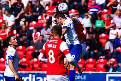Paul Mullin of Tranmere Rovers jumps to head the ball - Mandatory by-line: Ryan Crockett/JMP - 31/08/2019 - FOOTBALL - Aesseal New York Stadium - Rotherham, England - Rotherham United v Tranmere Rovers - Sky Bet League One