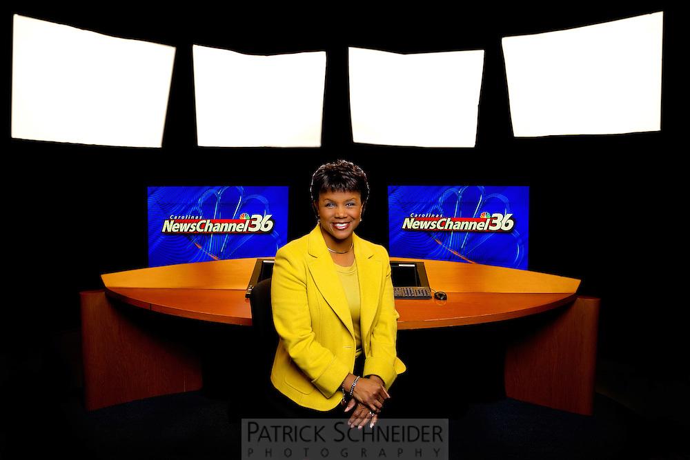 Corporate Portrait Photography  of WCNC-TV anchor Sonja Gantt.<br /> <br /> Charlotte Photographer -PatrickSchneiderPhoto.com