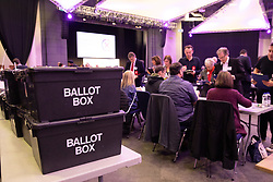 © Licensed to London News Pictures. 13/12/2019. Birmingham, West Midlands, UK. Birmingham Election Count. The Birmingham election count underway in the ICC, Birmingham. Photo credit: Dave Warren / LNP