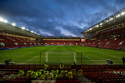 A general view of Ashton Gate, ahead of the second leg of the Carabao Cup Semi Final between Bristol City v Manchester City as flags are laid out on the seats- Mandatory by-line: Robbie Stephenson/JMP - 23/01/2018 - FOOTBALL - Ashton Gate Stadium - Bristol, England - Bristol City v Manchester City - Carabao Cup Semi Final second leg