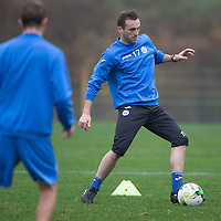 St Johnstone Training...30.10.14<br /> James McFadden pictured during training this morning at McDiarmid Park ahead of tomorrow night's game against his old club Motherwell.<br /> Picture by Graeme Hart.<br /> Copyright Perthshire Picture Agency<br /> Tel: 01738 623350  Mobile: 07990 594431