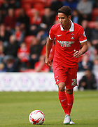 Leyton Orient defender Adam Chicksen in possession during the Sky Bet League 2 match between Leyton Orient and Oxford United at the Matchroom Stadium, London, England on 17 October 2015. Photo by Bennett Dean.