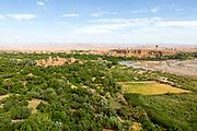KELAAT M'GOUNA, MOROCCO JUNE 12TH 2015 - Landscape view from Kasbah Itran, Dades Valley, Kelaat Mgouna, Morocco