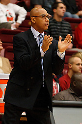 December 15, 2010; Stanford, CA, USA;  North Carolina A&T Aggies head coach Jerry Eaves on the sidelines during the first half against the Stanford Cardinal at Maples Pavilion.