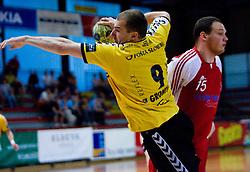 Yuri Gromyko of Gorenje at handball match of MIK 1st Men league between RD Slovan and RK Gorenje Velenje, on May 16, 2009, in Arena Kodeljevo, Ljubljana, Slovenia. Gorenje won 27:26. (Photo by Vid Ponikvar / Sportida)