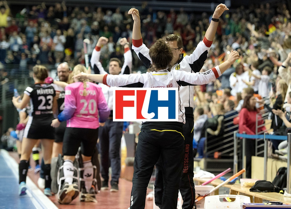 BERLIN - Indoor Hockey World Cup<br /> Final: Netherlands - Germany<br /> foto:<br /> WORLDSPORTPICS COPYRIGHT FRANK UIJLENBROEK