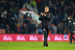 Bournemouth manager Eddie Howe applauds the crowd after finishing Bournemouth 2-2 Watford - Mandatory by-line: Jason Brown/JMP - 21/01/2017 - FOOTBALL - Vitality Stadium - Bournemouth, England - Bournemouth v Watford - Premier League