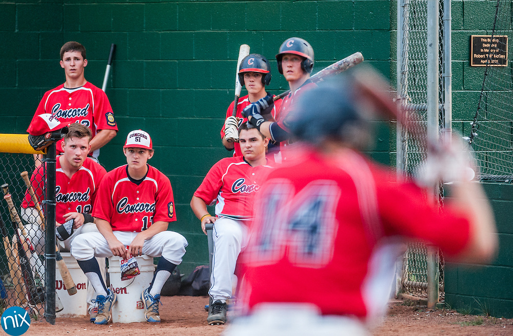 Concord Post 51 against Mooresville Post 537 Tuesday night at Central Cabarrus High School. Concord won the game 13-1.