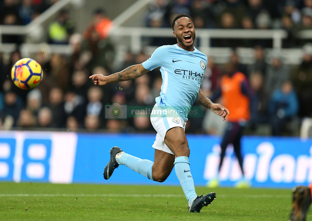 27 December 2017 Newcastle: Premier League Football - Newcastle United v Manchester City : Raheem Sterling of City.<br /> (photo by Mark Leech)
