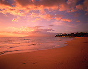 Sunset, Wailea Beach, Wailea, Maui, Hawaii, USA<br />