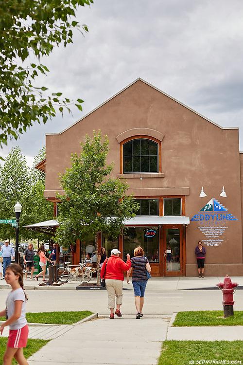 The Eddyline Restaurant in the South Main development of Buena Vista, Colorado.