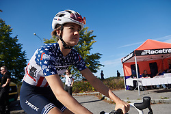 Ruth Winder (USA) before Ladies Tour of Norway 2019 - Stage 4, a 154 km road race from Svinesund to Halden, Norway on August 25, 2019. Photo by Sean Robinson/velofocus.com