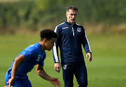 Bristol Rovers Coach Chris Hargreaves does some work with Tyler Lyttle - Mandatory by-line: Robbie Stephenson/JMP - 15/09/2016 - FOOTBALL - The Lawns Training Ground - Bristol, England - Bristol Rovers Training