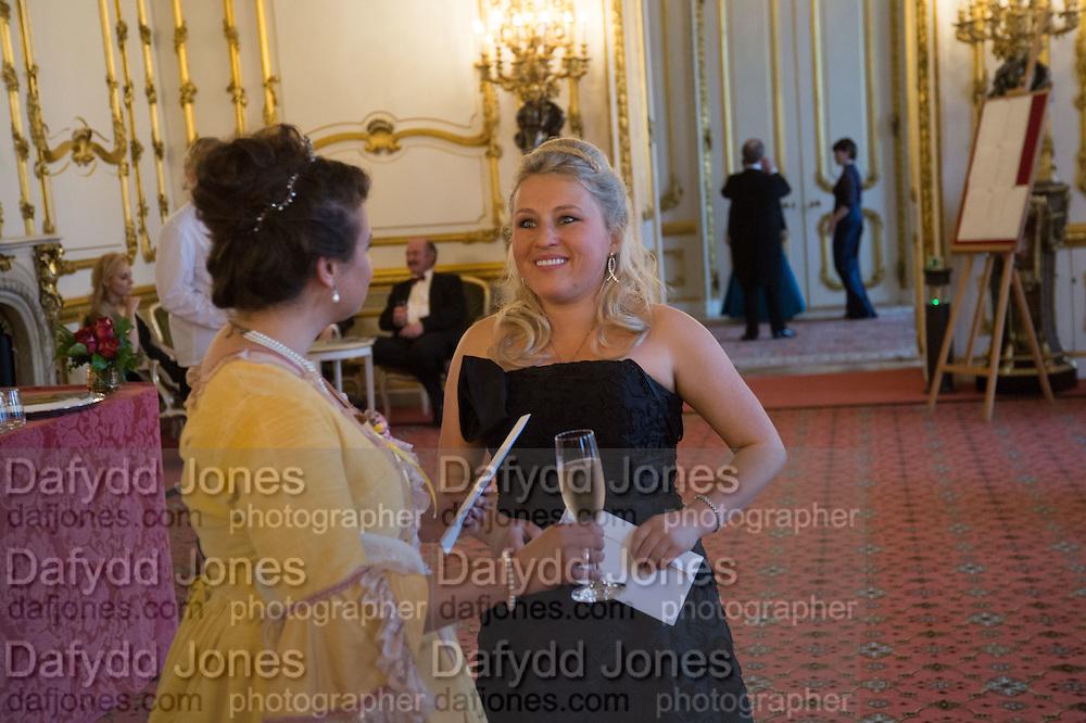COUNTESSA VIRGINIE JACQUELINE ASINORI DI SAN MARZIANO; ILONA BAVKINA, The 20th Russian Summer Ball, Lancaster House, Proceeds from the event will benefit The Romanov Fund for RussiaLondon. 20 June 2015