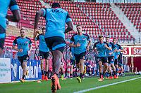 ALKMAAR - 24-08-2016, training AZ, AFAS Stadion, AZ speler Rens van Eijden, AZ speler Markus Henriksen, AZ speler Stijn Wuytens