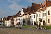Town square of Bardejov, Unesco World heritage sight, Slowakia