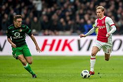 21-01-2018 NED: AFC Ajax - Feyenoord, Amsterdam<br /> Ajax was met 2-0 te sterk voor Feyenoord / Frenkie de Jong #21 of AFC Ajax
