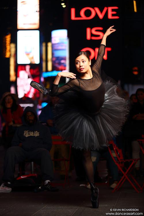 Dance As Art  New York City Photography Times Square Series with dancer, Shoko Fujita