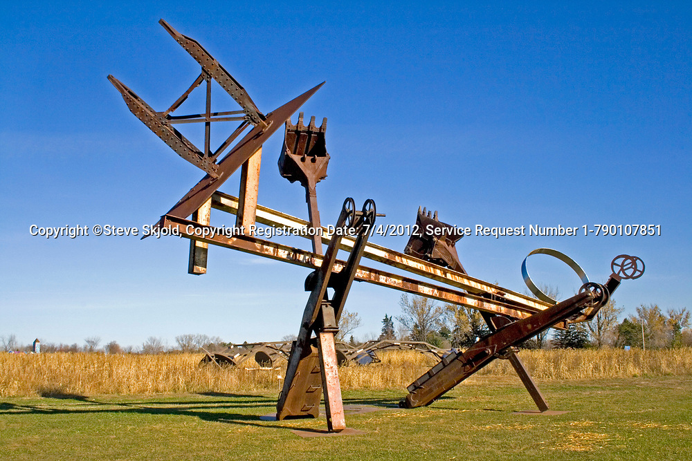 Johnny Appleseed outside sculpture by Mark di Suvero. Franconia Sculpture Park Franconia Minnesota MN USA